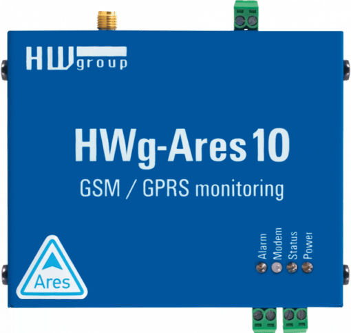 Termómetro GSM hwg-ares10 vista aérea