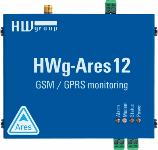 Vista superior del termómetro hwg-ares12