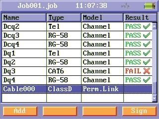 Diferentes tipos de cables soportados por el certificador CAT6