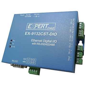conversor serie a ip con entadas digitales y salidas a relé ex9132cst-dio