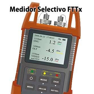 Medidor selectivo de potencia óptica FTTx