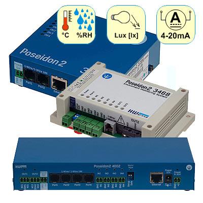 Termómetros IP con registrador Poseidon2