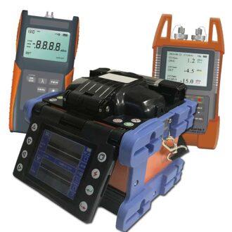 kit básico de fibra óptica con fusionadora