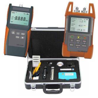 kit básico de fibra óptica con kit de limpieza y conectorización