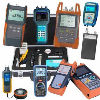 kit completo de fibra óptica con kit de limpieza y conectorización
