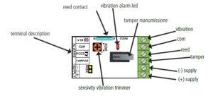 esquema de conexión del detector de vibración