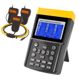 analizador de potencia y armónicos con pinzas flexibles de 3000A