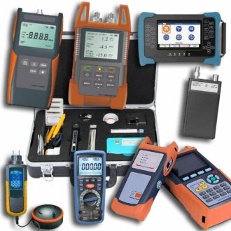 kit completo de equipamiento para fibra óptica con kit de limpieza y conectorización economico