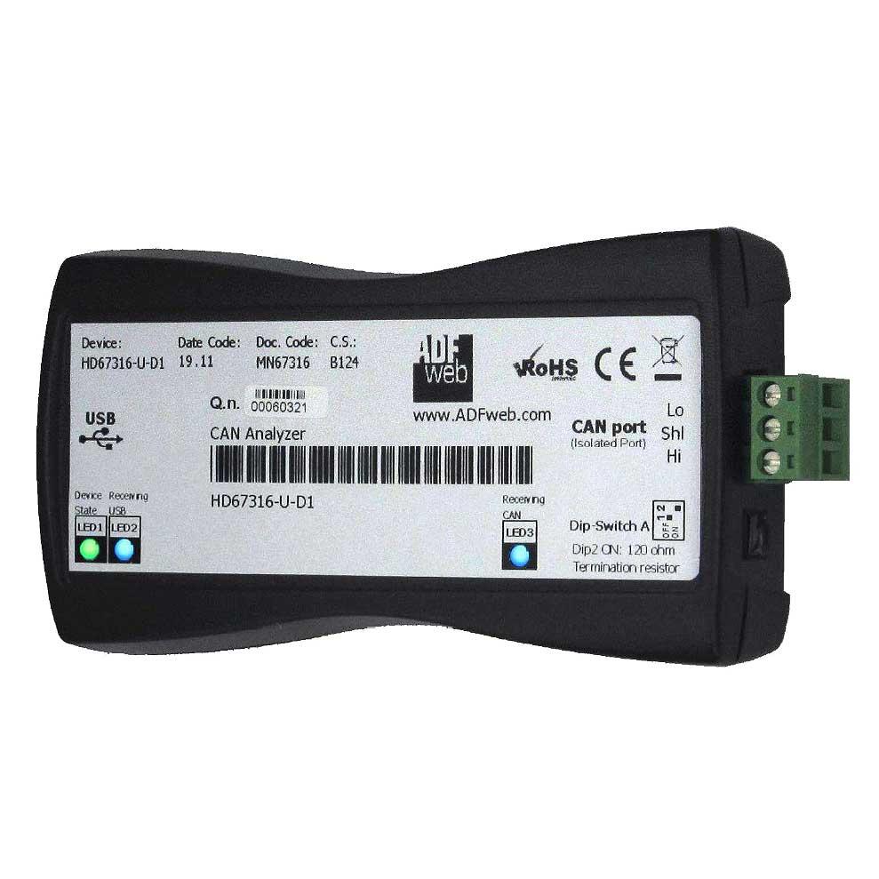 hd67316-U-D1 es un analizador de protocolo CAN / CANopen